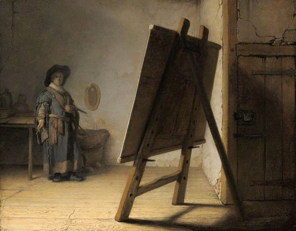 Rembrandt The Artist in his Studio c. 1626 Museum of Fine Arts, Boston