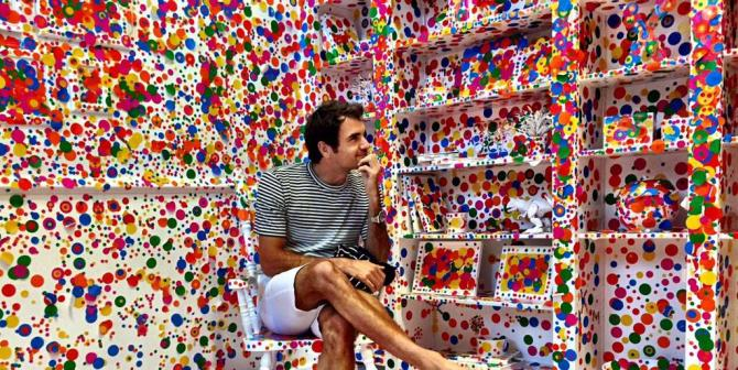 roger in kusama's work
