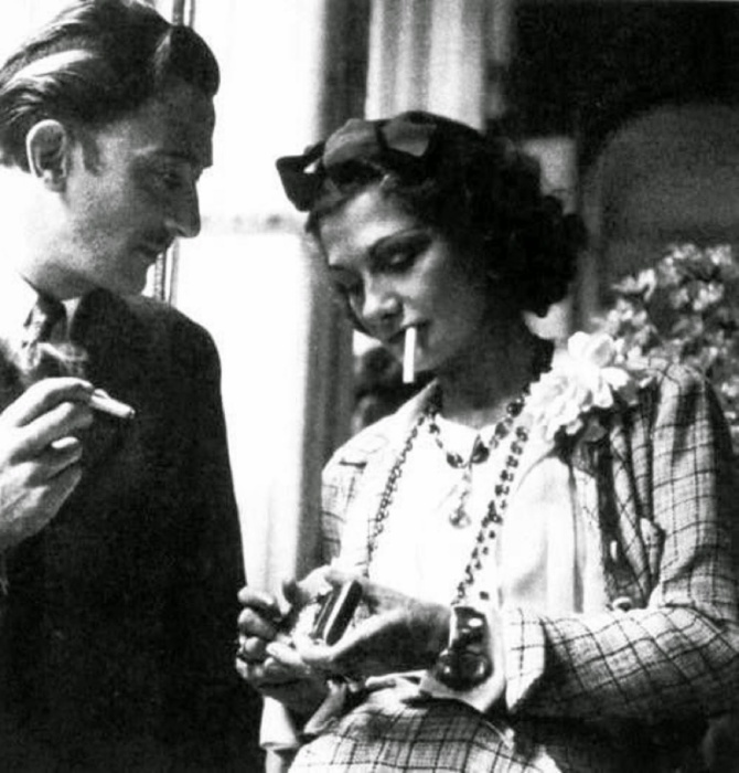 Salvador Dalí and Coco Channel 1930s