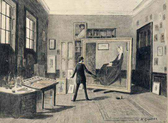 Walter Greaves Whistler Painting in his Studio jó