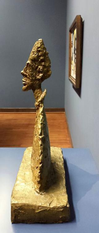 Alberto Giacometti (1901-1966) Slender Bust on Plinth (Amenophis) 1954 Albertina Museum Vienna