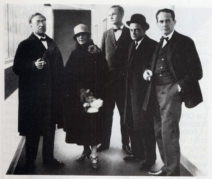 bauhaus staff - froem left to right_Wassily Kandinsky and Nina his wife, Georg Muche, Paul Klee and Walter Gropius