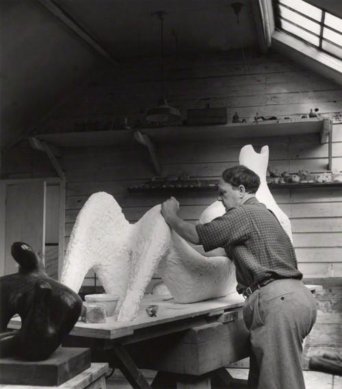 NPG x125630; Henry Moore by Lola Walker (Lola Marsden)