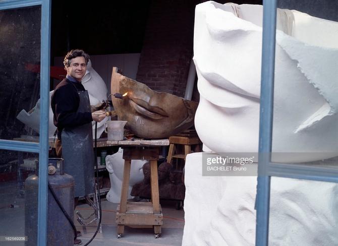 Igor Mitoraj (Polish, 1944-2014) At Home In Pietrasanta, Italy in his atelier 1991
