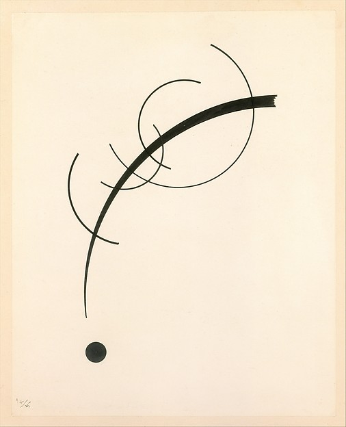 Vasily Kandinsky (French (born Russia), Moscow 1866–1944 Neuilly-sur-Seine) Free Curve to the Point - Accompanying Sound of Geometric Curves 1925