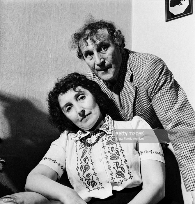 Artist Marc Chagall and his wife Bella Rosenfeld Chagall in 1944 in New York State