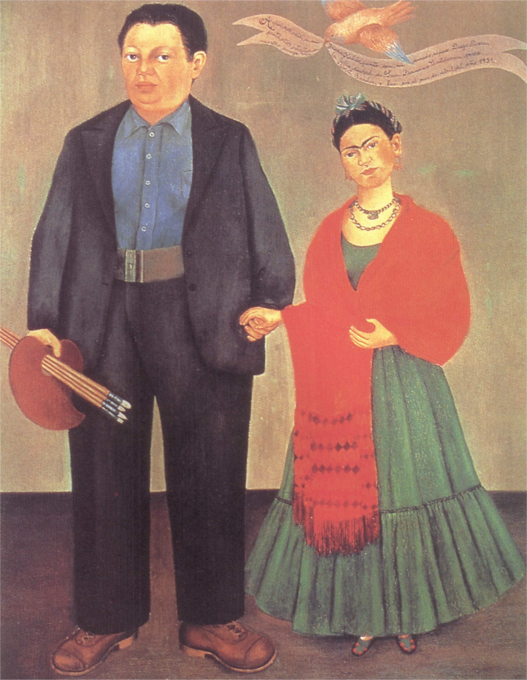 Frida Kahlo Frieda and Diego Rivera 1931