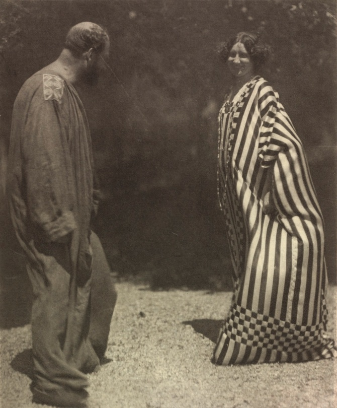 Gustav Klimt and Emilie Flöge by Hans Böhler in the Garden of the Villa Olleander on the Attersee, 1910