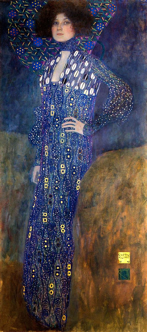 Gustav Klimt Portrait of Emilie Floege 1902