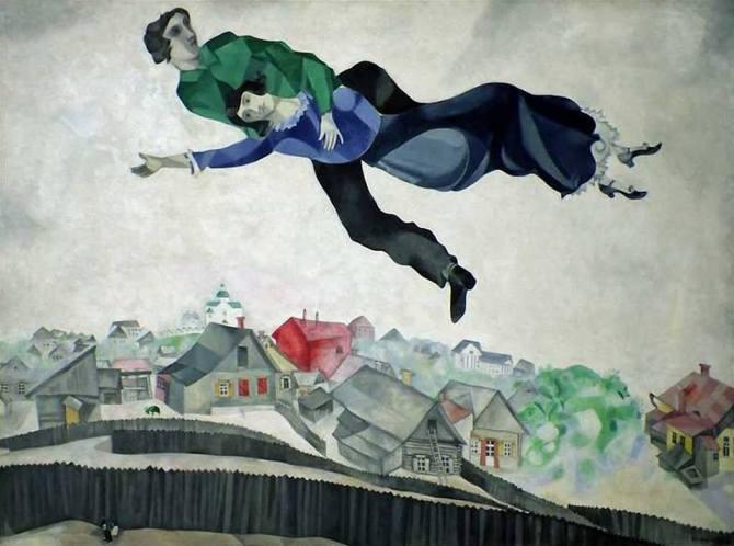 Marc Chagall Sulla città 1918