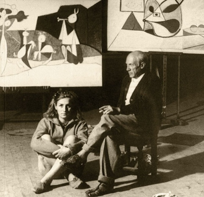 Pablo Picasso and Françoise Gilot in 1946