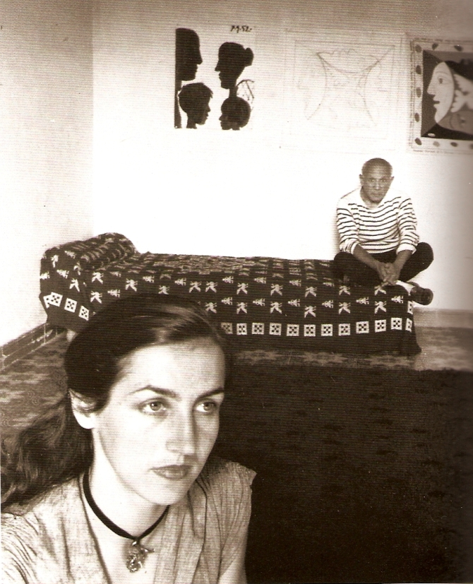 Pablo Picasso and Françoise Gilot in 1952