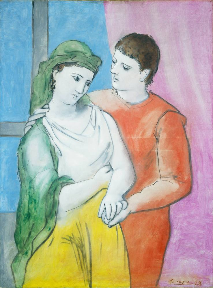 Pablo Picasso – The Lovers (1923) oil on linen National Gallery Washington