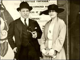 Pablo Picasso with Olga Khokhlova, a Russian ballerina and his first wife in 1919