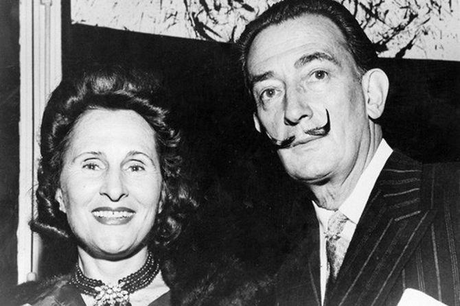 Salvador Dalí and Gala 1960s