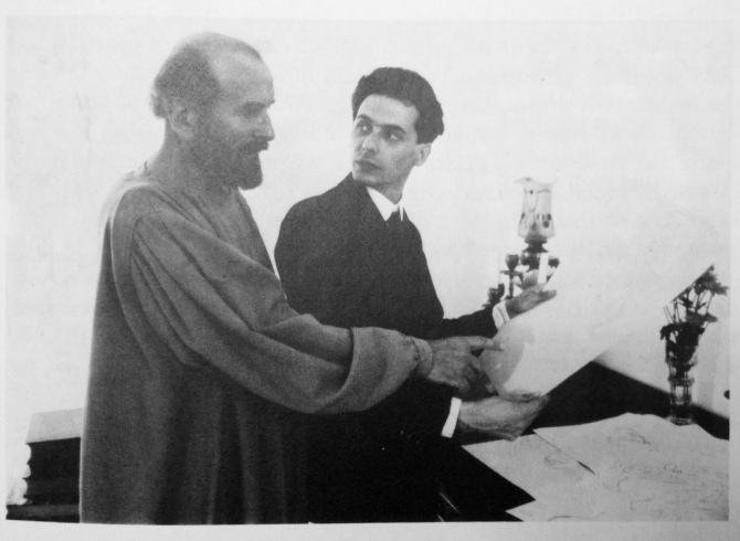 Gustav Klimt and Egon Schiele ca. 1906