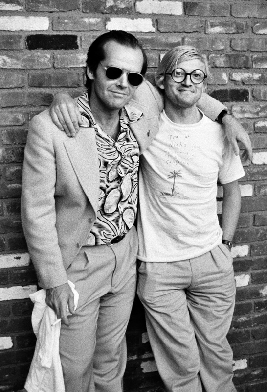 Jack Nicholson and British artist David Hockney in 1978
