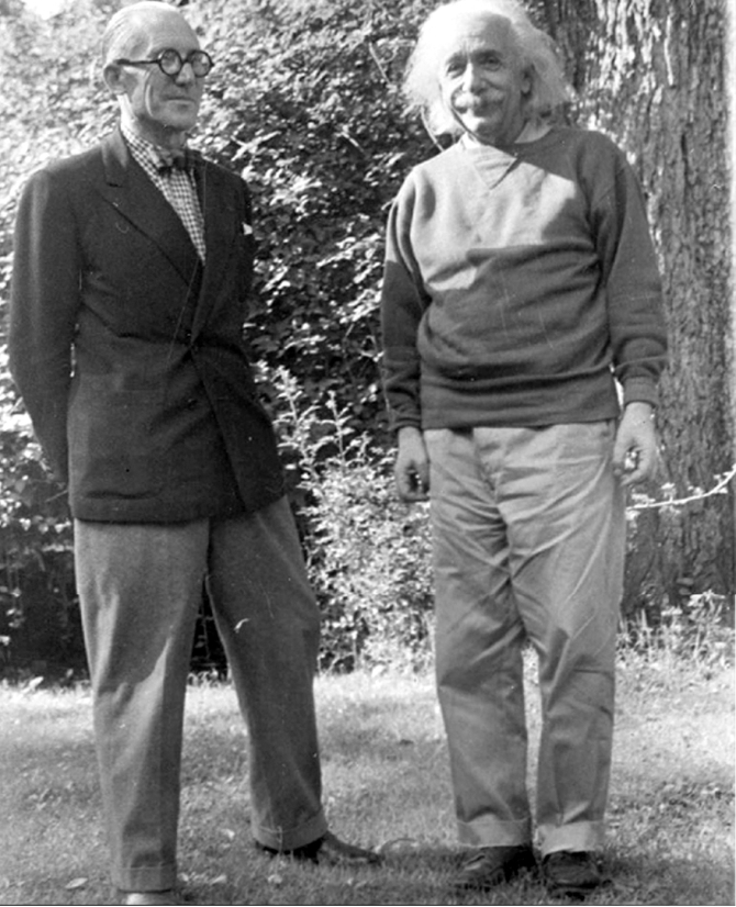 Le Courbusier & Albert Einstein - 1946, Princeton, New Jersey