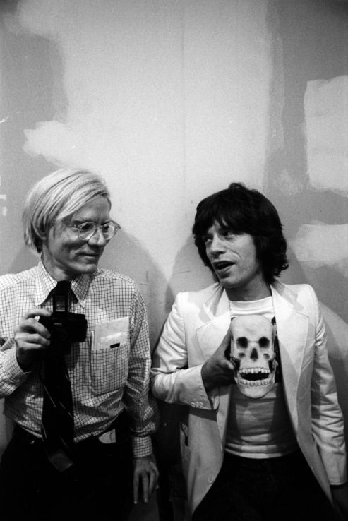 Mick Jagger and Andy Warhol at the Factory, October 1977