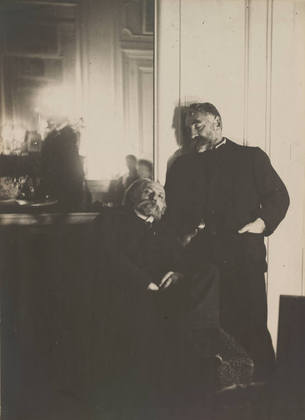 Pierre-Auguste Renoir and Stéphane Mallarmé December 1895 Phot by Edgar Degas
