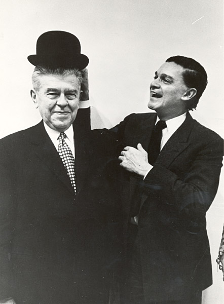 René Magritte and Alexandre Iolas, 1965 _ Photo Steve Schapiro for Life