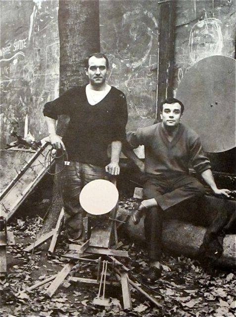 Yves Klein and Jean Tinguely 1958