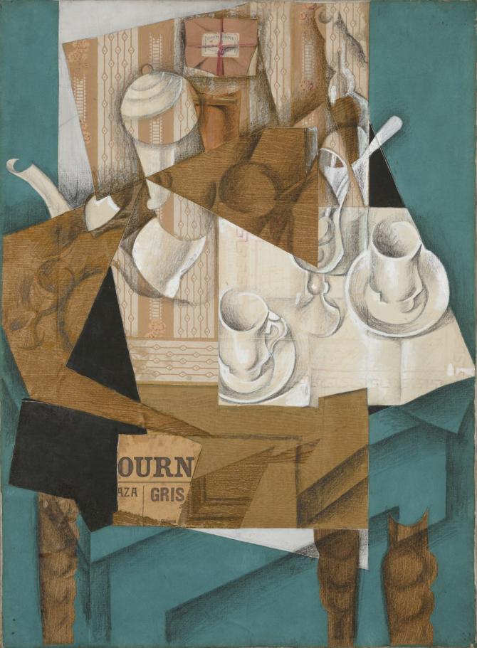 Juan Gris Breakfast 1914 MOMA