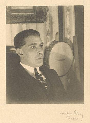 Juan Gris in Paris 1922 Gelatin silver print photo by Man Ray
