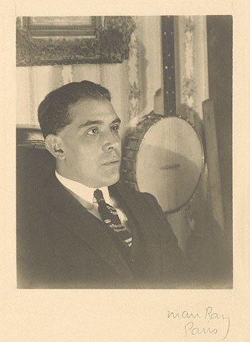 Juan Gris in Paris 1922 Gelatin silver print photo by Man Ray