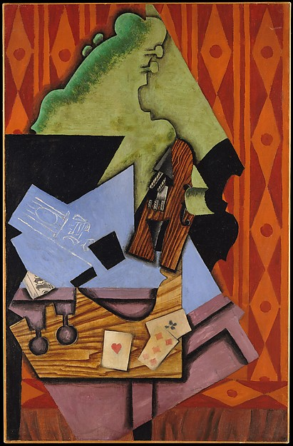 Juan Gris Violin and Playing Cards on a Table 1913