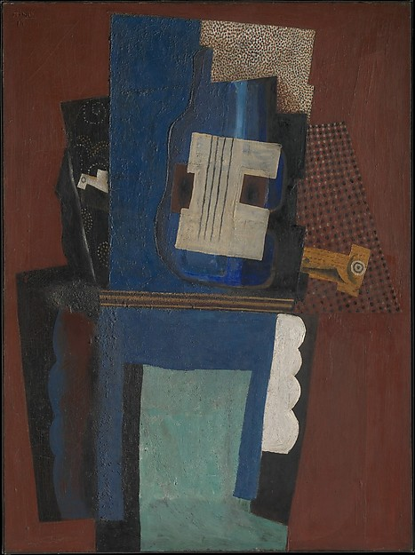 Pablo Picasso Guitar and Clarinet on a Mantelpiece