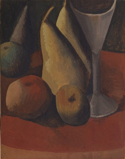 Pablo Picasso (Spanish, 1881–1973) Still Life with Fruit and Glass 1908 MOMA
