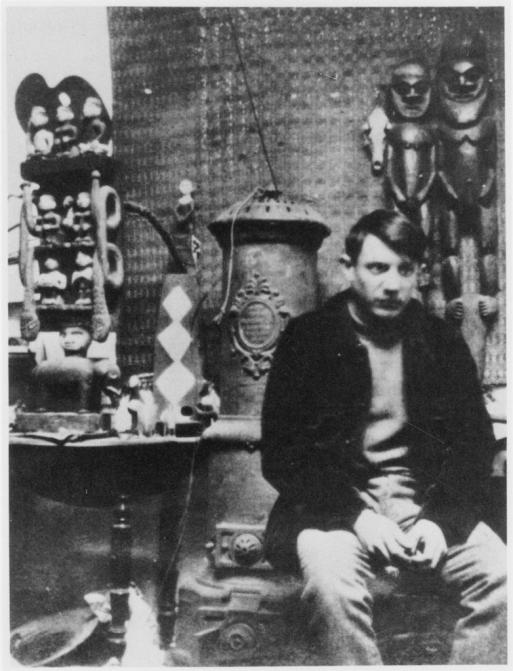 Picasso in his studio at the Bateau-Lavoir, Paris, 1908