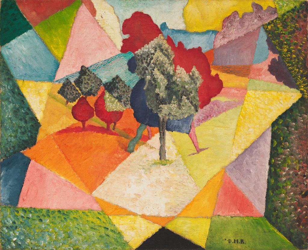 Rivera Cubist Landscape 1912 MOMA