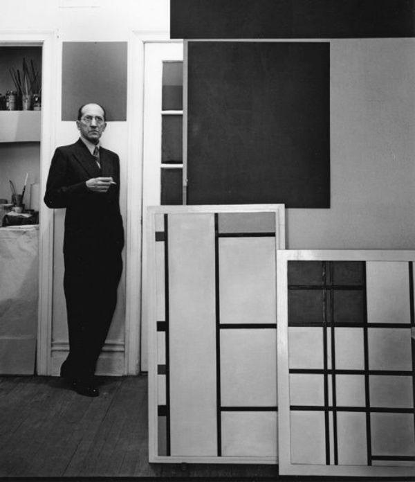 Mondrian in his Manhattan studio ca. 1941