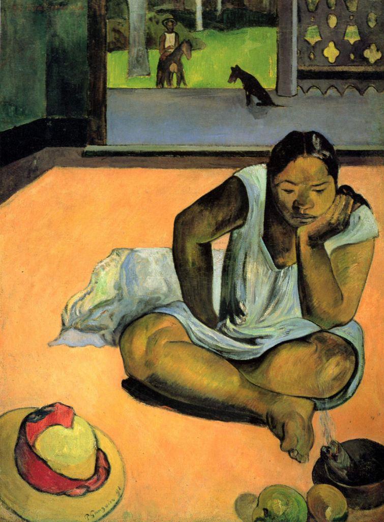 Paul Gauguin Te faaturuma_La malhumorada_The Brooding Woman_1891