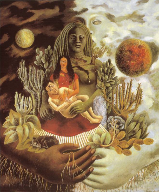 The Love Embrace of the Universe, the Earth(Mexico), Myself, Diego and Senor Xolotl, 1949