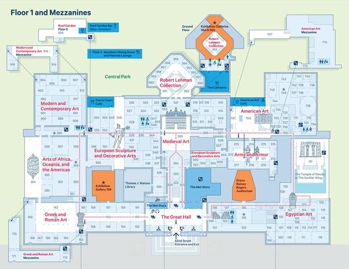 the-met_fifth-avenue-map_floor1