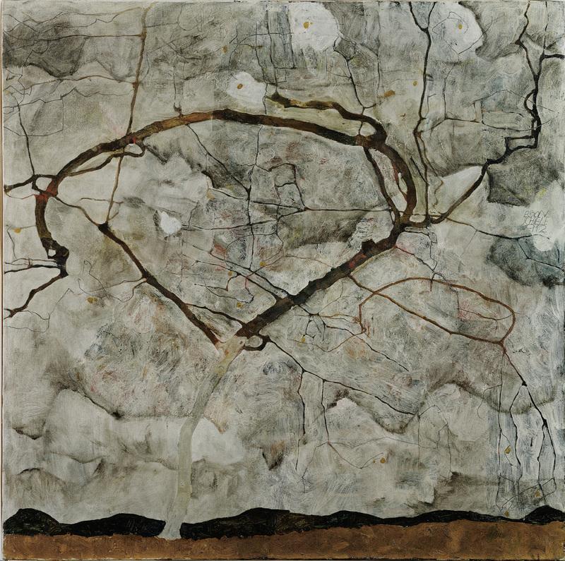 egon-schiele-herbstbaum-in-bewegter-luft-winterbaum-1912