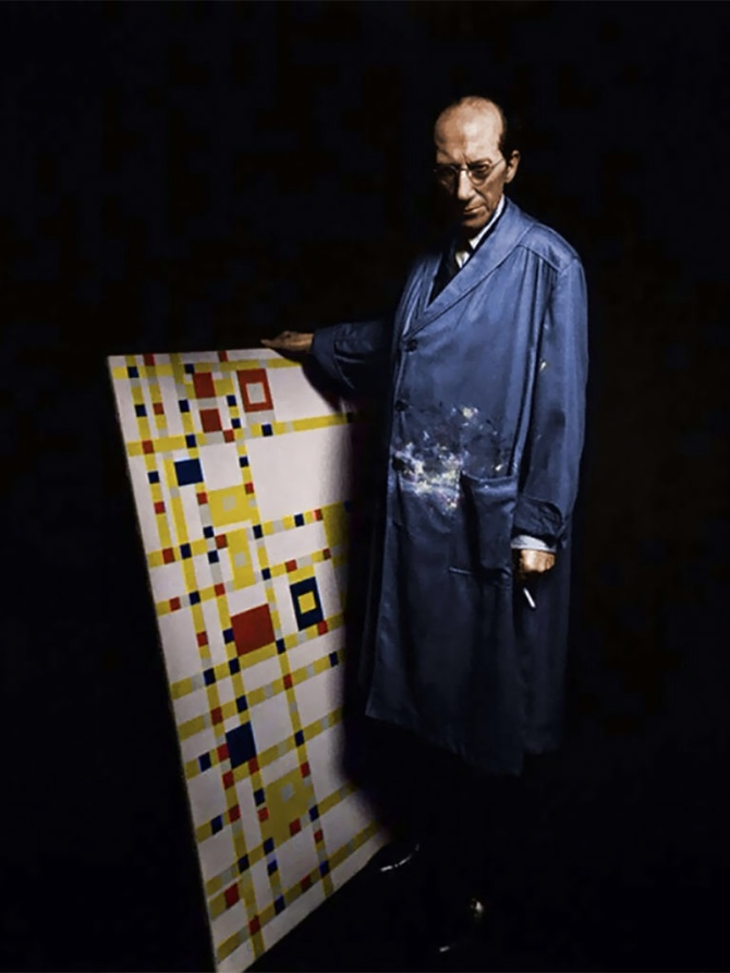 piet-mondrian-dutch-1872-1944-with-his-last-finished-painting-broadway-boogie-woogie