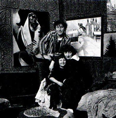 Marc Chagall, his wife Bella Rosenfeld and daughter Ida in Paris, 1924