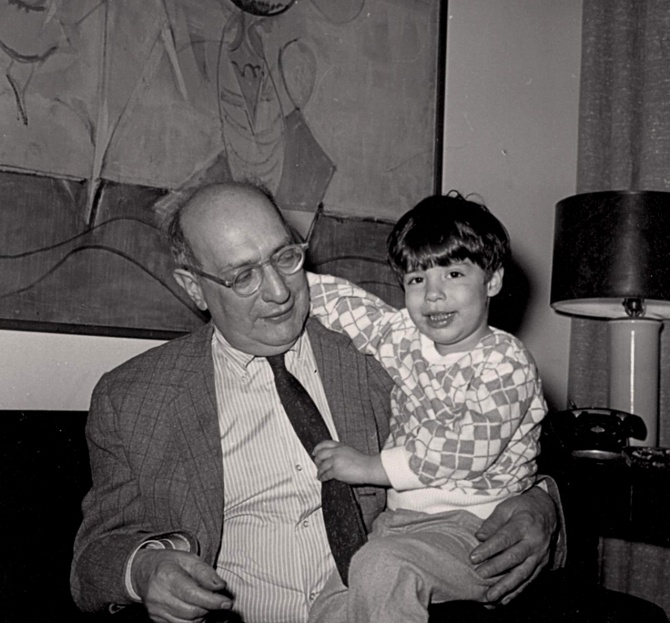 Mark Rothko and his son, Christopher, 1966.jpg