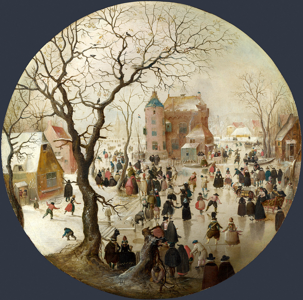 Avercamp_A Winter Scene with Skaters near a Castle_National gallery_London