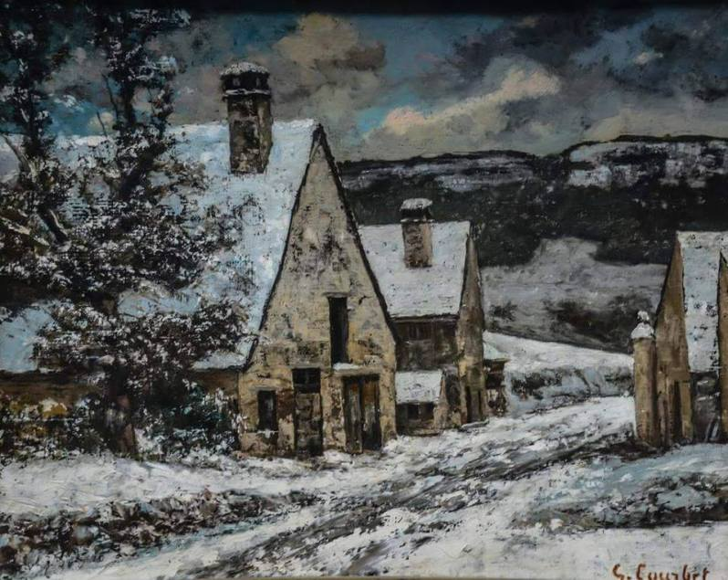 Gustave Courbet Edge of a Village in Winter 1868