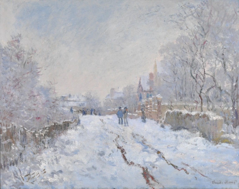 Monet Winter at Argenteuil_National Gallery_London