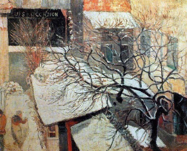 Paul Gauguin (French, 1848–1903)_Snowy Paris Paris sous la neige 1894