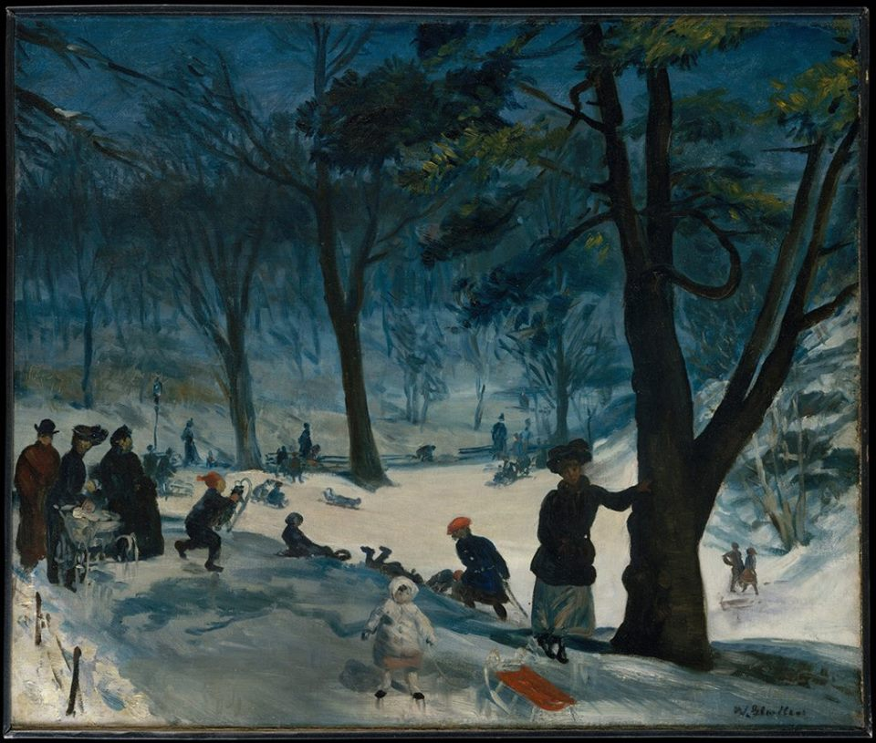 William James Glackens (American, 1870–1938)_Central Park, Winter ca. 1905