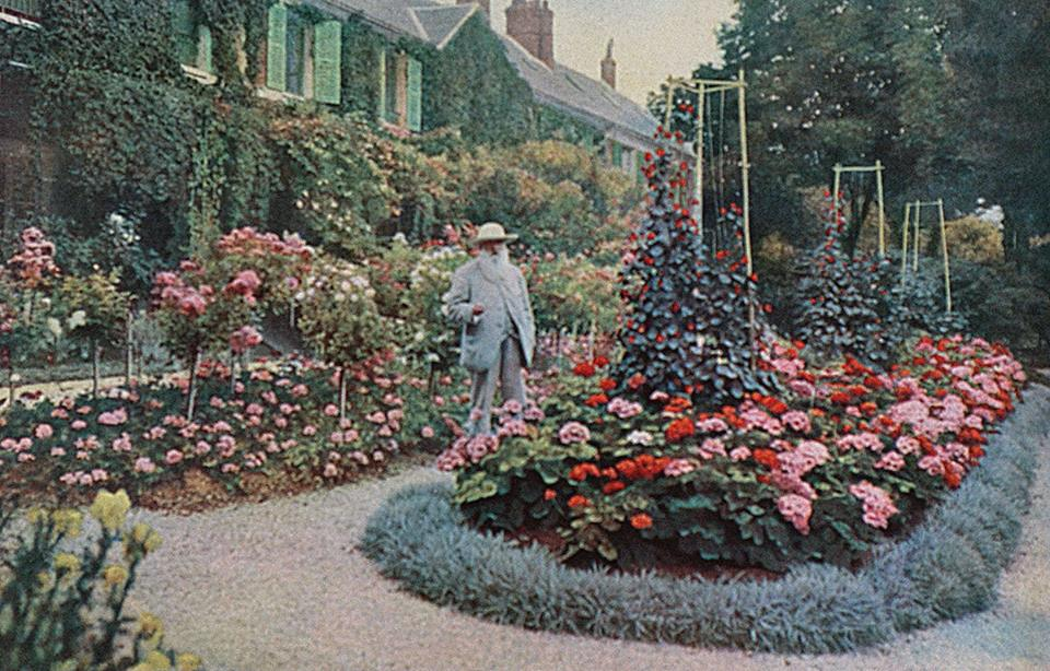Claude Monet in the garden of his house at Giverny, 1926