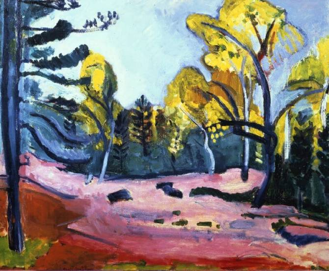Henri Matisse (French, 1869-1954)_The Forest at Fontainebleau 1909