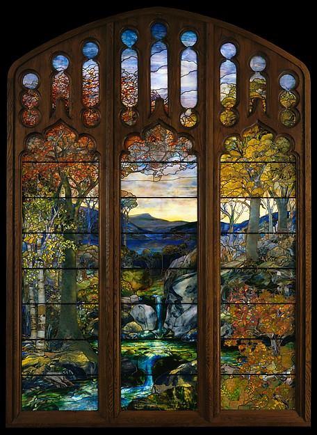 Attributed to Agnes F. Northrop (American Designer, 1857–1953)_Autumn Landscape 1923–1924.jpg